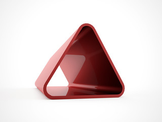 3D triangle isolated