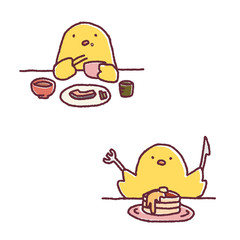 ひよこ食事