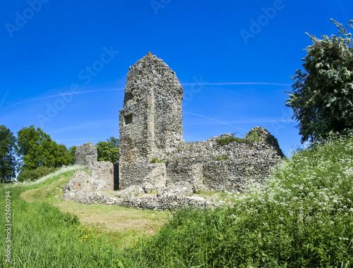 Poster berkhamsted castle ruins hertfordshire