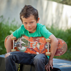 Portrait d'un jeune skater (8 ans)
