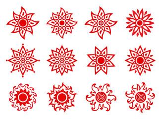 Stylized Suns