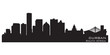 Durban South Africa skyline Detailed vector silhouette
