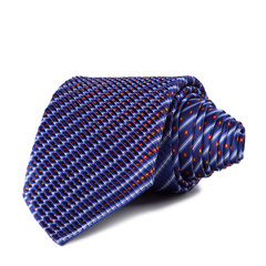 Stylish silk male tie ( necktie ) on white.