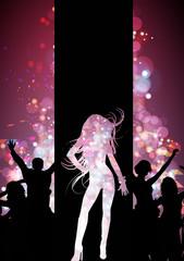 Evento discoteca, sfondo flyer