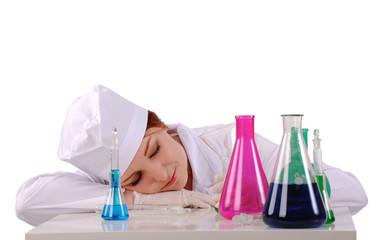 спящий лаборант