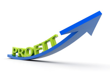 Growing profit graph.