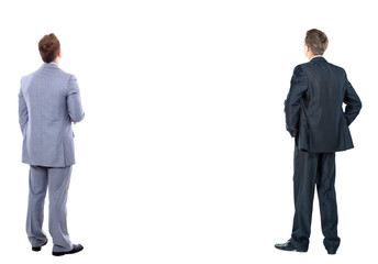 two business man  over a white background