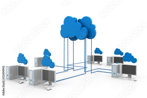 Cloud computing devices.