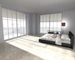 canvas print picture - modern bedroom interior - Wohndesign - Schlafzimmer