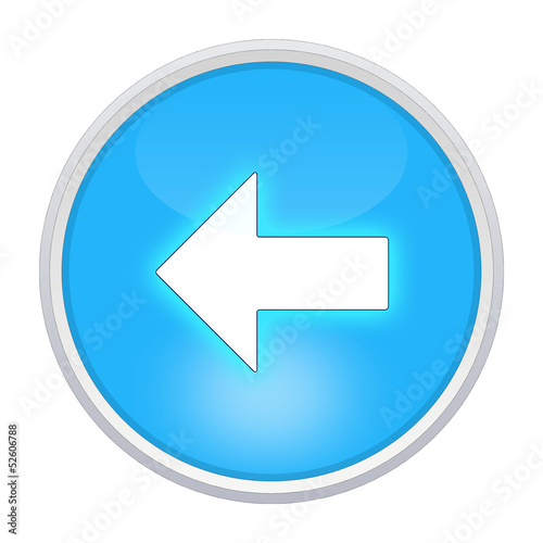 back icon light blue circle