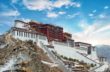 Potala Palace in Lhasa ( Tibet ) with beautiful sky