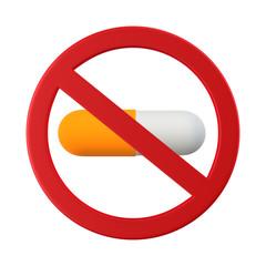 薬物使用禁止のイラスト