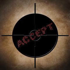 Accept target