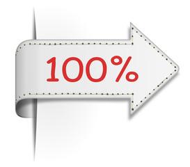 Schild Pfeil 100 %