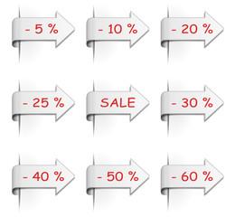 Set Schilder Sale Prozent