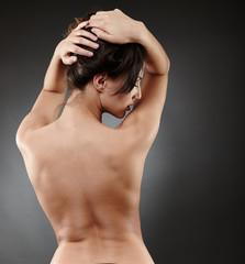 Beuatiful woman's back