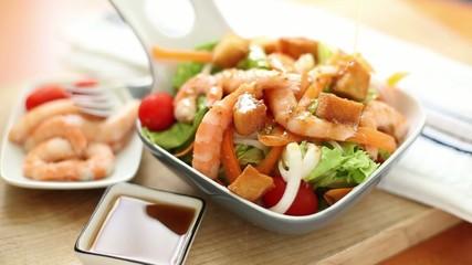 seasoning prawn salad