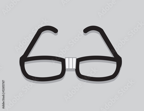 Nerdy glasses with taped center