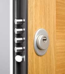 Wooden doors with lock 7