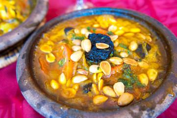 Lamb tajine, traditional moroccan dish