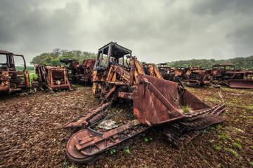 rusty excavator
