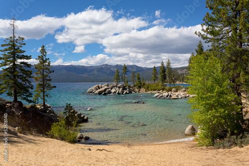 Spoed canvasdoek 2cm dik Grote meren Lake Tahoe beach