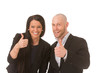 Businesspeople thumbs up
