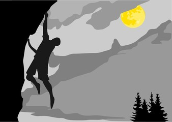 Klettern bei Nacht