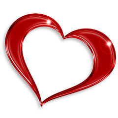 red glossy heart