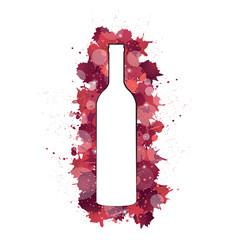 Tâches - bouteille de Bordeaux