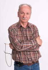 Portrait of a successful elderly man
