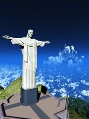 Famous statue of the Christ the Reedemer, in Rio de Janeiro,