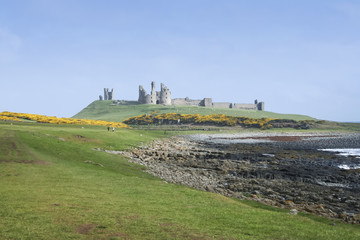 Dunstanburgh castle northumberland coast