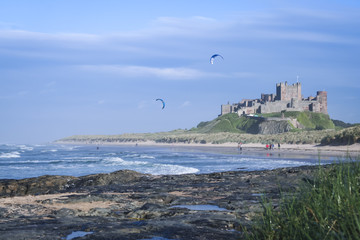 bamburgh castle beach northumberland coast