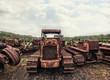 rusty vintage tractors
