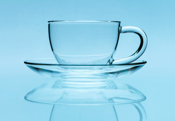 Transparent teacup