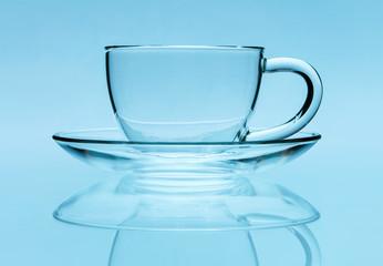 Transparent teacup