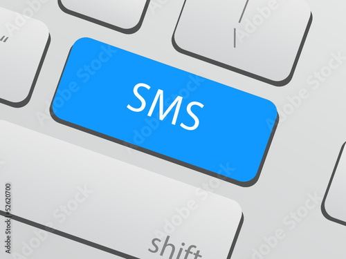 SMS button on keyboard