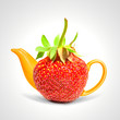 Concept strawberry teapot