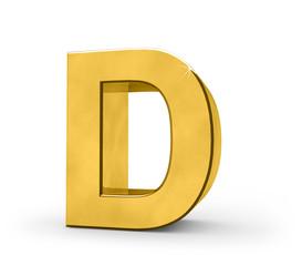 Letter in gold - D