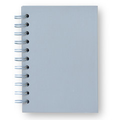 Gray notebook.