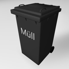Müll abfuhr Recycling und Müll Tonne