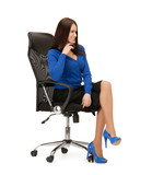 businesswoman sitting in chair