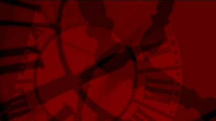 Animation - Crazy clocks red silhouettes