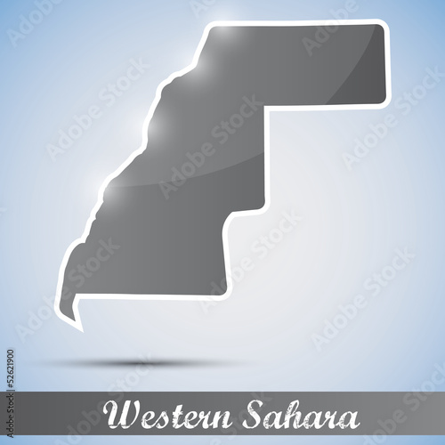 shiny icon in form of Western Sahara