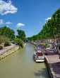 canvas print picture - canal du midi