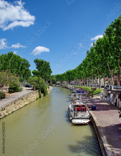 canvas print picture canal du midi