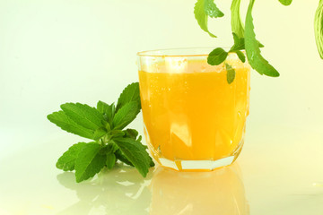 stevia and orange juice