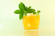 stevia on juice glass