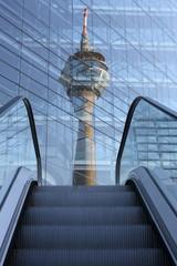 Rheinturm Spiegelung